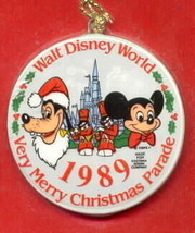 Disney Goofy & Mickey Mouse dated 1989 ornament Rare - $14.99