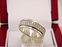 PIAGET Possession Band Ring 18K White Gold With Appx 1.22 ct Diamonds, S... - $4,106.20