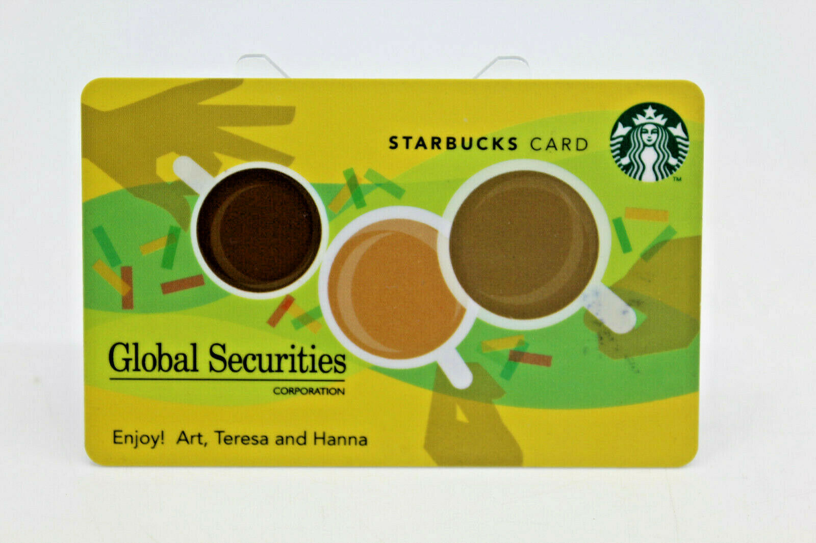 Primary image for Starbucks Coffee 2011 Gift Card Global Securities Corpotation BC Zero Balance