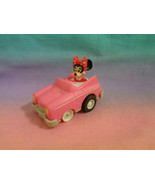 Vintage 1988 McDonald's Disney Miniature Minnie Mouse Pullback and Go Ca... - $1.97