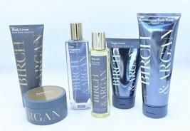 6 Bath & Body Works Birch and Argan Sugar Scrub Body Cream Butter Oil Mi... - $79.99