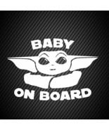car00316| Decal  Baby Yoda on board car sticker - $3.25+