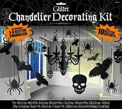 Party Decoration | Halloween Glitter Paper Chandelier Decorating Kit 17 PCS - $14.80