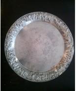 "Sheridan Taunton Silversmiths 13.5"" EP Brass Tray Vintage - $24.19"
