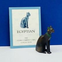 Franklin mint Curio cabinet Cat figurine kitten sculpture COA vtg Egypti... - £46.56 GBP