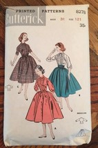 Vintage Butterick Shirt & Full Skirt  Cummberband Pattern 1950's Rockabi... - $10.80