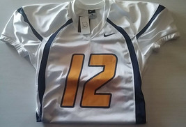 Nike Crack Back Football Jersey #12 Yellow White Navy Adult Large - $54.00