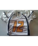 Nike Crack Back Football Jersey #12 Yellow White Navy Adult Large - $54.00