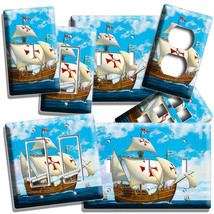 SANTA MARIA CHRISTOPHER COLUMBUS SHIP LIGHT SWITCH OUTLET WALL PLATES RO... - $8.09+