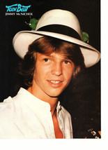Jimmy Mcnichol teen magazine pinup clipping white hat close up Tiger Beat Bop