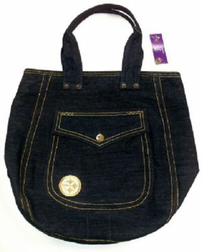 Pittsburgh Steelers Hobo Handbag Women's NFL Gold Tone Logo Denim Purse Bag
