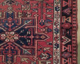 Red 3 x 13 All-Over Classic Tribal Design Runner Karaja Persian Handmade Rug image 3