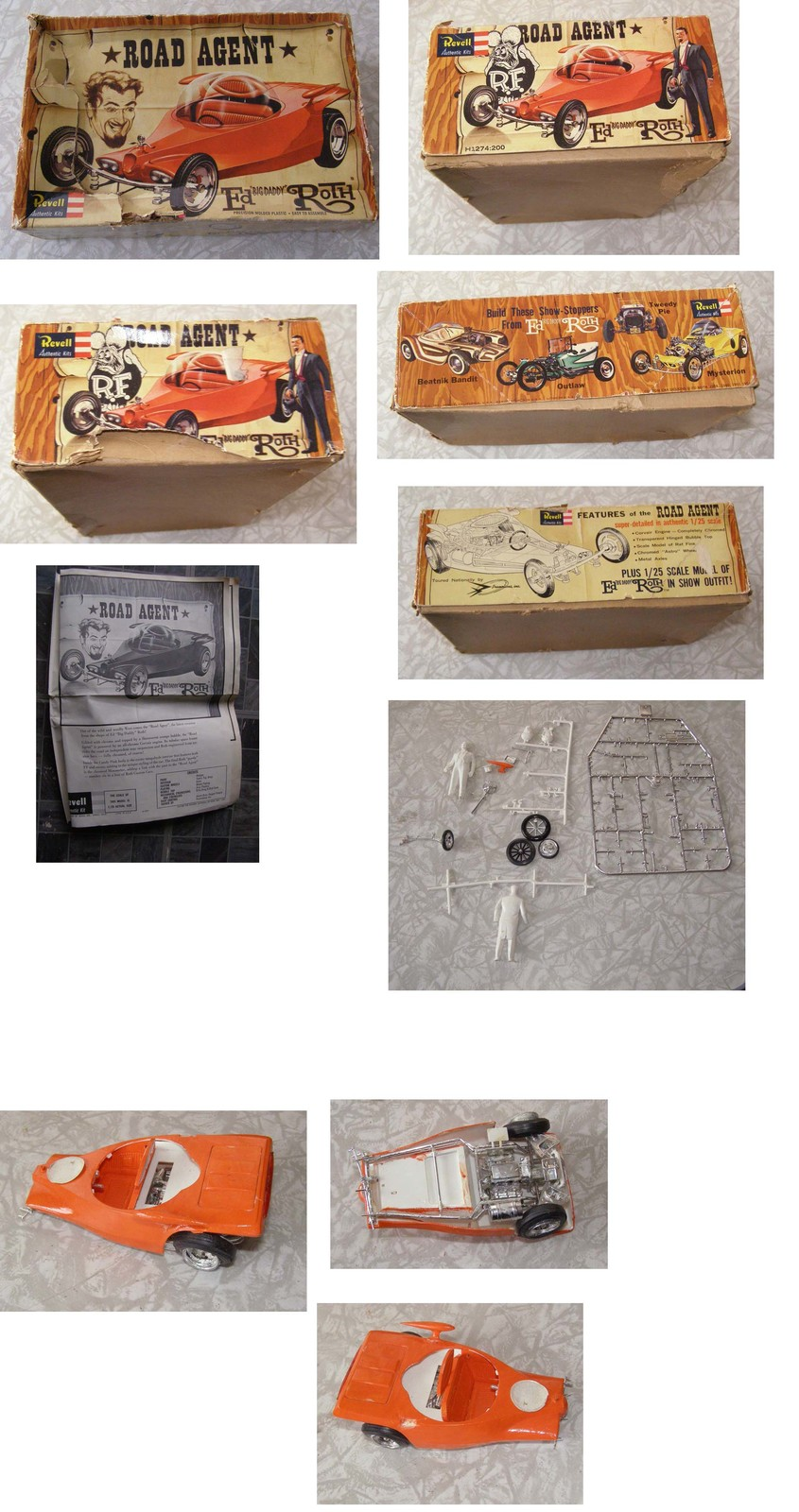 Primary image for Big Daddy Ed Roth Road Agent Model Kit Rat Fink Revell