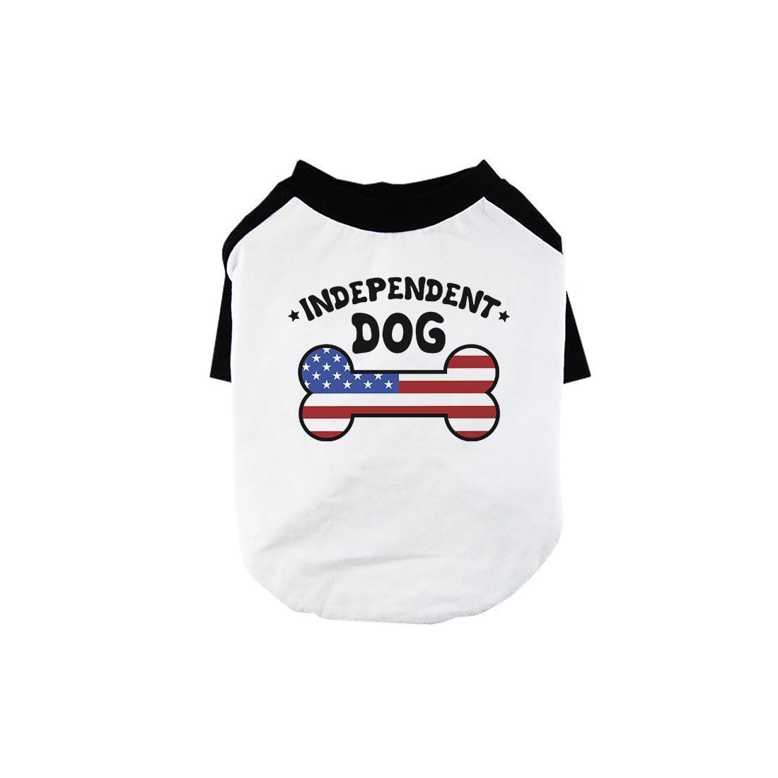 Independent Dog Cute Pet Baseball Shirt for Small Dogs 4th of July