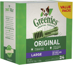 GREENIES Original Large Dog Natural Dental Treats (50-100 lb. Dogs) - $45.99