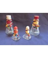 Oil, Vinegar, Salt & Pepper Cruet Set, Wooden Beads, Nice 1950's Four Pi... - $17.59