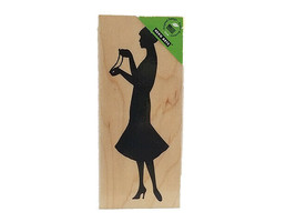 Hero Arts 2011 Woman with Pearls Rubber Stamp #K5519