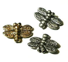 DRAGONFLY FINE PEWTER BEAD - VERTICAL HOLE image 1