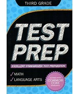 Third Grade Math & Language Arts Test Prep Workbook (Aligned with Common... - £3.94 GBP