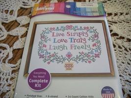 Janlynn Cross Stitch Kit 999-1012~Live Simply - $10.00