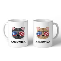 Ameowica 11oz Funny 4th Of July Decorative Gift Mug For Cat Lovers - £11.23 GBP