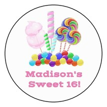"""12 Sweet 16 Personalized Birthday Party Stickers Favors Labels tags 2.5""""... - $8.99"""