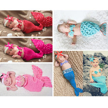 New Baby Girl Newborn Knit Crochet Mermaid Dress Costume Photo Prop Outf... - $15.90