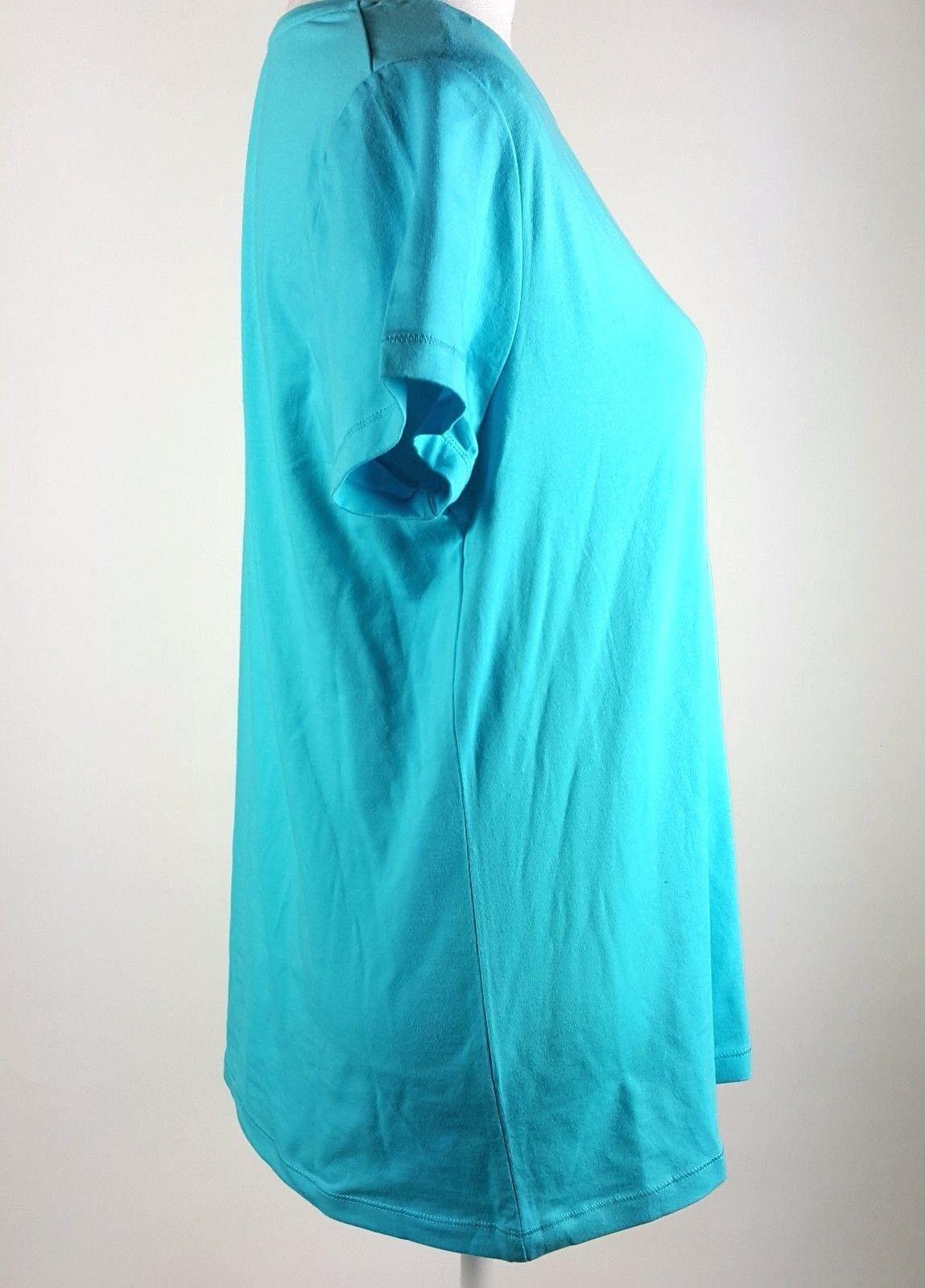 Sonoma Life + Style Everyday Tee Womens Size Large Blue Short Sleeve Shirt NWT