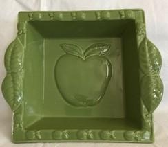 Eurogres Stoneware Portugal Square Glazed Baking Dish Green Apples 8x8 - $18.00