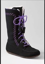 LANDS' END Boots Size: 9 M NEW Toddler Girl's NITA Moccasin Lace - $59.99