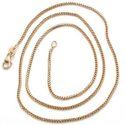 18K ROSE GOLD CHAIN 1.2 MM SQUARE FRANCO LINK, 24 INCHES, 60 CM MADE IN ITALY