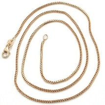 18K ROSE GOLD CHAIN 1.2 MM SQUARE FRANCO LINK, 24 INCHES, 60 CM MADE IN ITALY image 1