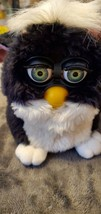 1ST Original Black And White Skunk Furby Pink Ears Rare Green Eyes 70-800 - $35.00