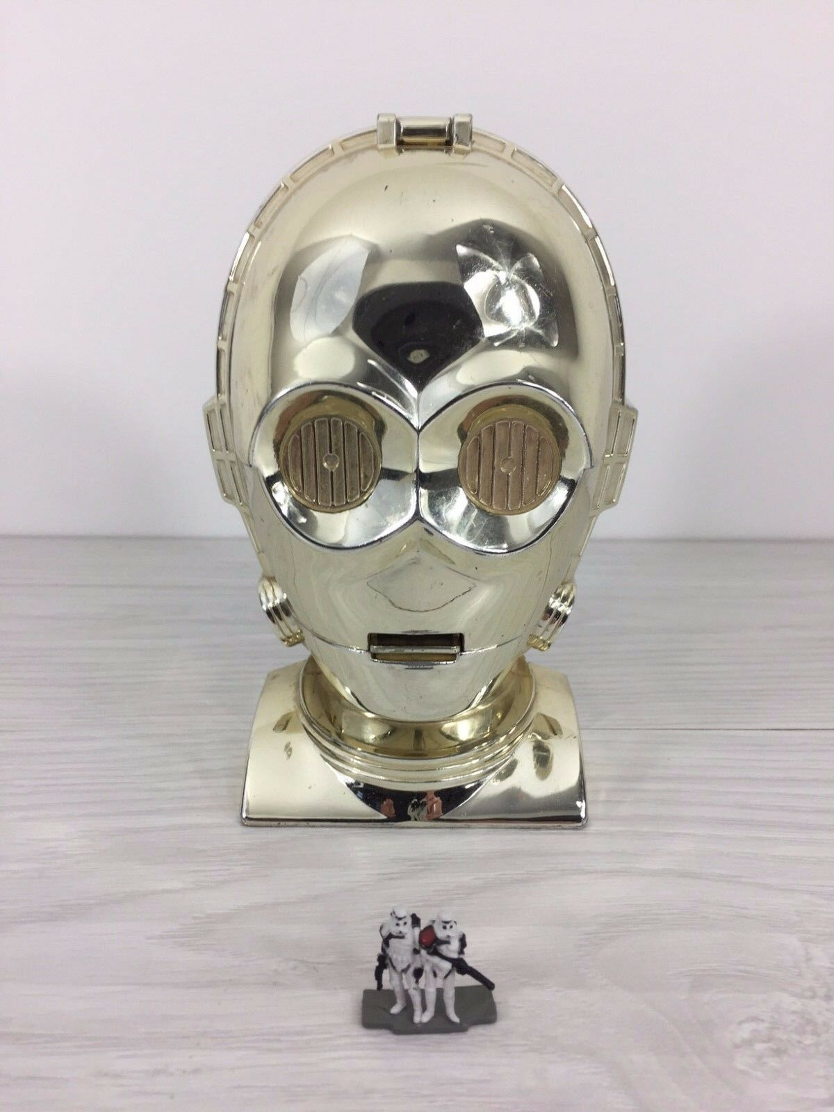Primary image for 1994 Star Wars C-3PO head mid century steampunk deco modernist industrial design