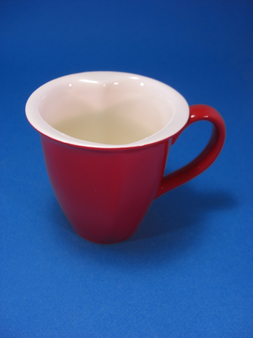 hallmark red white heart shaped coffee mug modern 1970 now