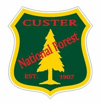 Custer National Forest Sticker R3223 You Choose Size - $1.45+