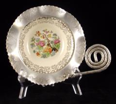 Farber & Shlevin hammered engraved aluminum china serving bowl 1940s vin... - $17.89