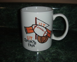 Personalized Ceramic Coffee Mug handpainted UT Sports Fan Orange footbal... - $12.50