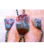 FANTASTIC SHAPED AGATE BOLO TIE W GREAT AGATE TIPS - $51.46