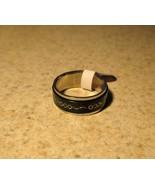 RING MEN WOMEN UNISEX BLACK TRIPLE RING SIZE 8 #94 - $9.99