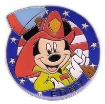 NY Disney Galleries - Fireman Mickey USA  Flag pin/pins - $24.99
