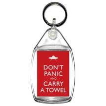 keyring double sided keep calm carry a towel the vogons are coming design,