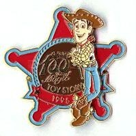 Disney Toy Story100 Years of Magic  Woody 3-D Pin/pins