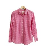 VINEYARD VINES Relaxed Plaid Shirt Top Sz 4 Pink Long Sleeves Button Front - $28.04