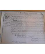 Historic Document  Mason's Charter Dorchester Massachusetts  - $12.99