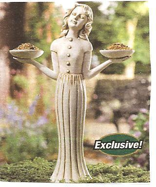 Garden Maiden Birdfeeder and Outdoor Candle Holder