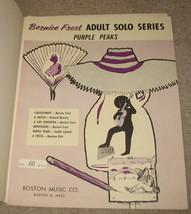 Purple Peaks Sheet Music - Bernice Frost Adult Solo - 1960   - $8.99