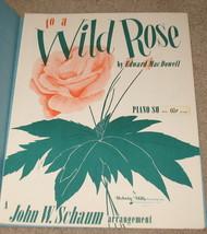 To A Wild Rose sheet Music - 1953 - Edward MacDowell - $8.99