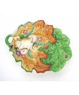 FITZ & FLOYD Woodland Spring Baby Bunny Canape Plate Easter - $27.99