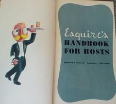 Vintage 1949 Esquire's Handbook For Hosts. G-259 - $18.00